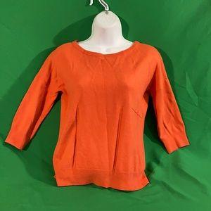 Ann Taylor SP red orange cashmere blend sweater